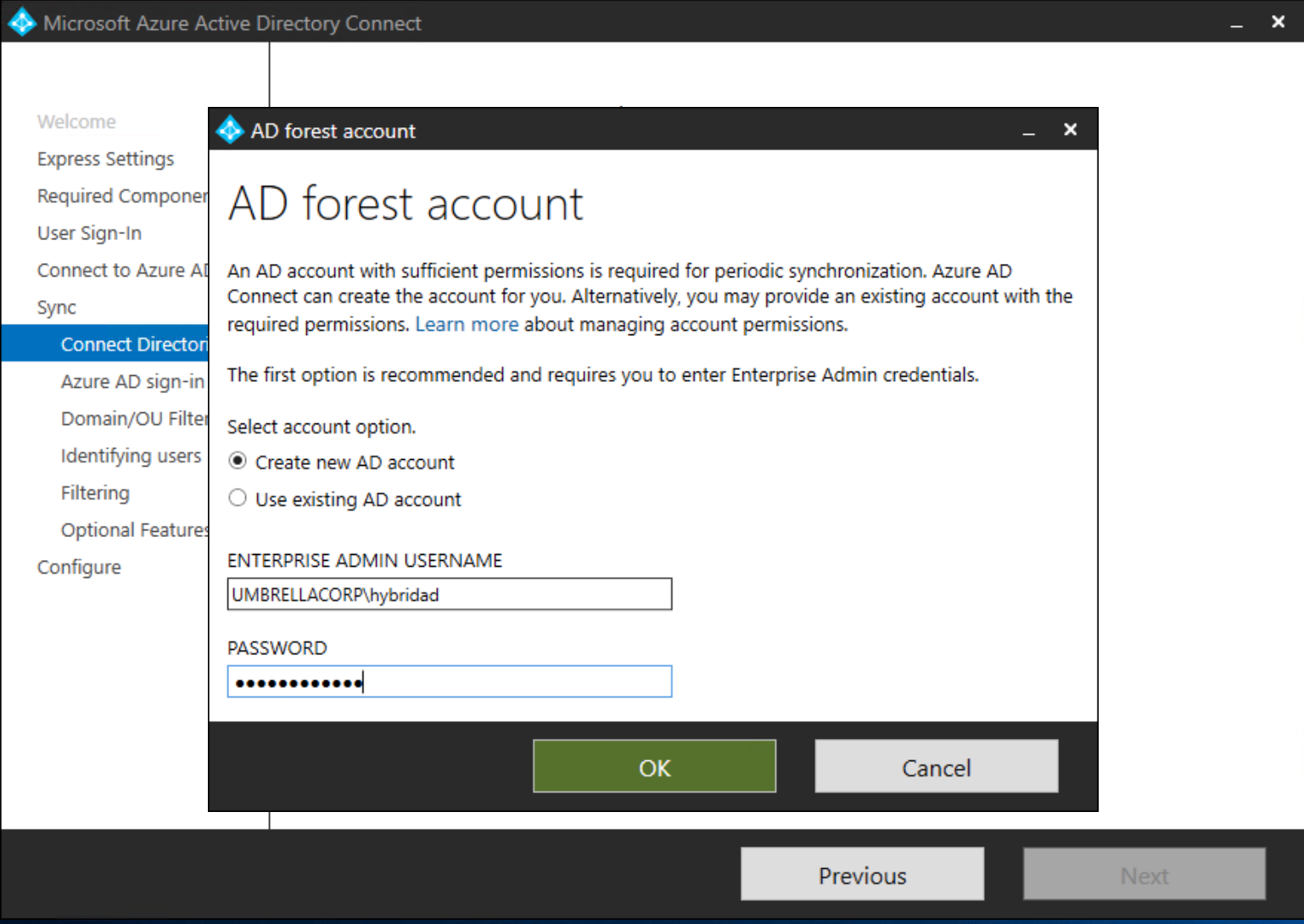 Configuring Pass-Through Authentication in Azure Active
