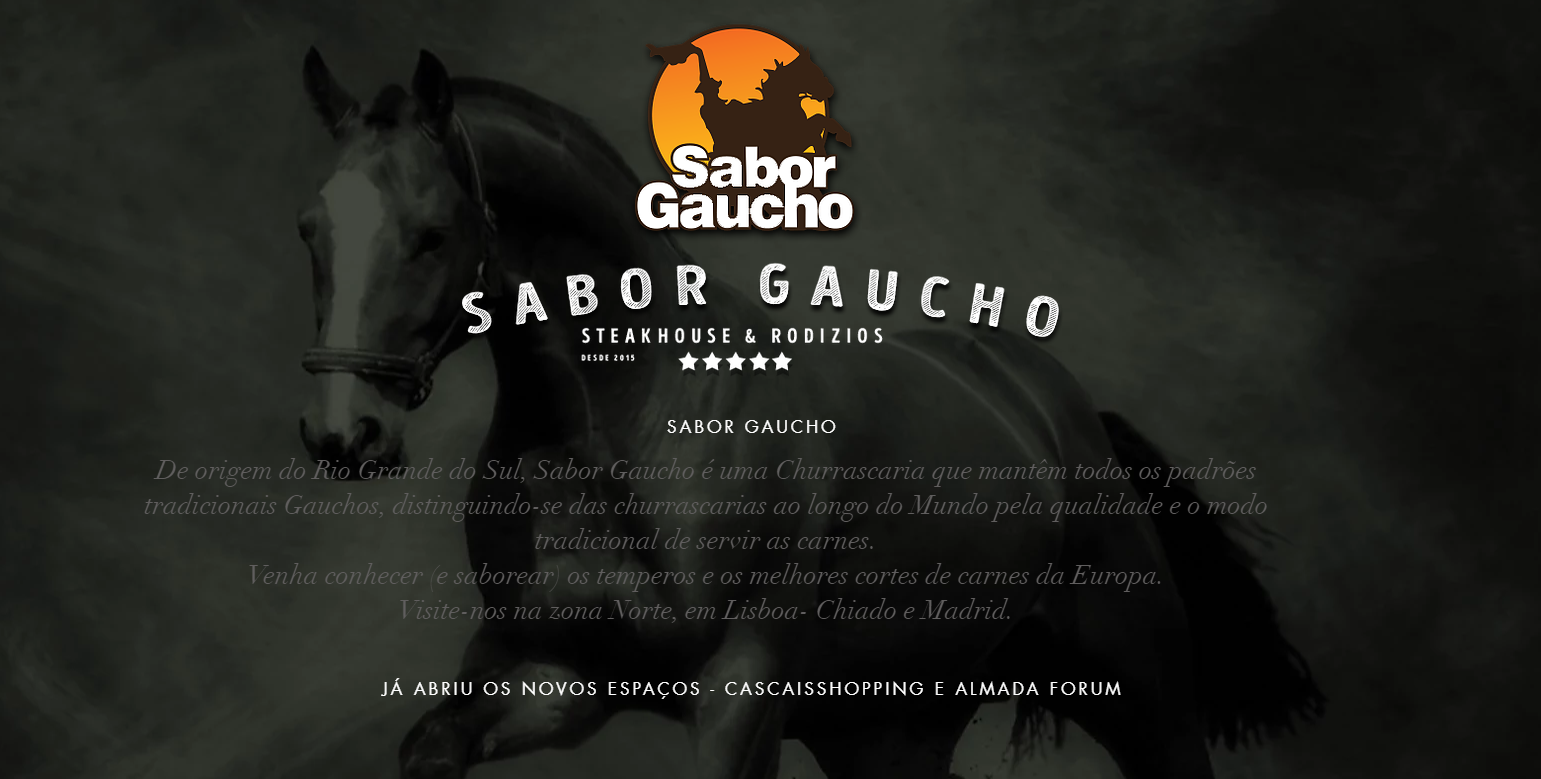Screencap of Sabor Gaucho's website