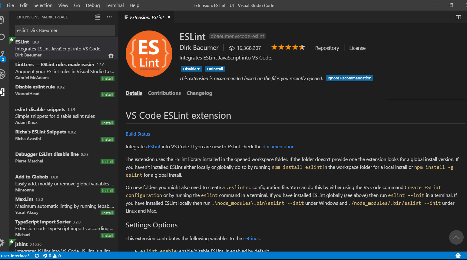 Setting up EsLint on Vs Code with Airbnb Javascript Style Guide
