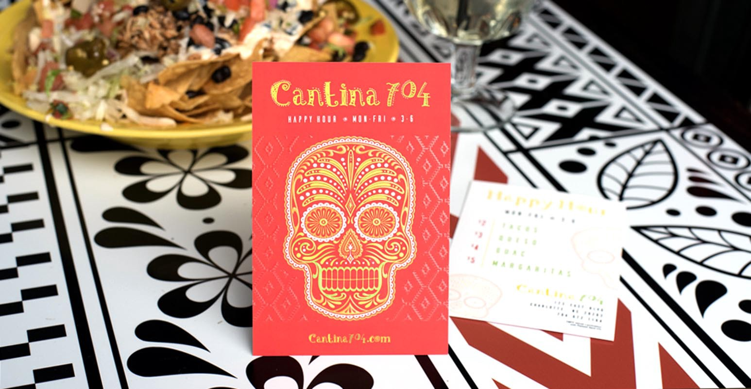 Postcards are great for displaying daily food and drink specials.