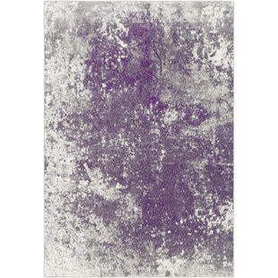 Candelaria Abstract Medium Gray Dark Purple Area Rug By Williston Forge Onsales Discount Prices By Ferne Medium