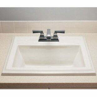 Town Square Ceramic 24 Rectangular Drop In Bathroom Sink With