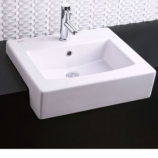 Universal Rectangular Drop In Bathroom Sink With Overflow By