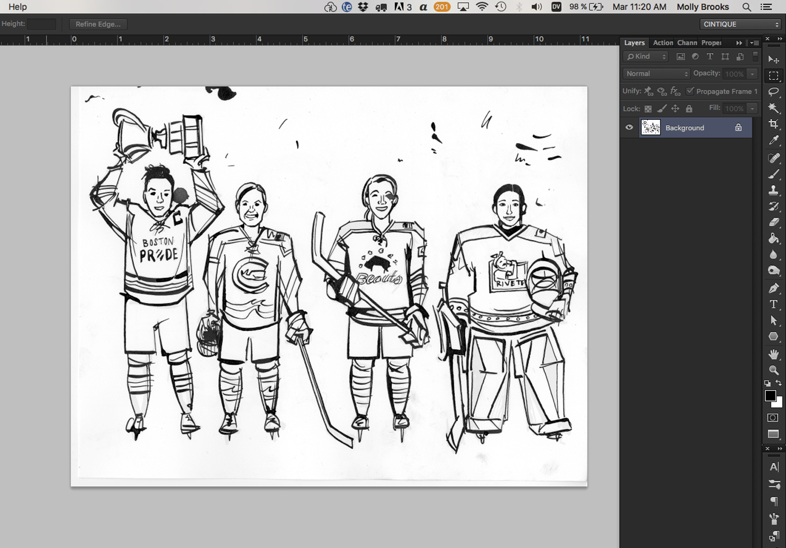 How to isolate scanned linework in photoshop molly brooks