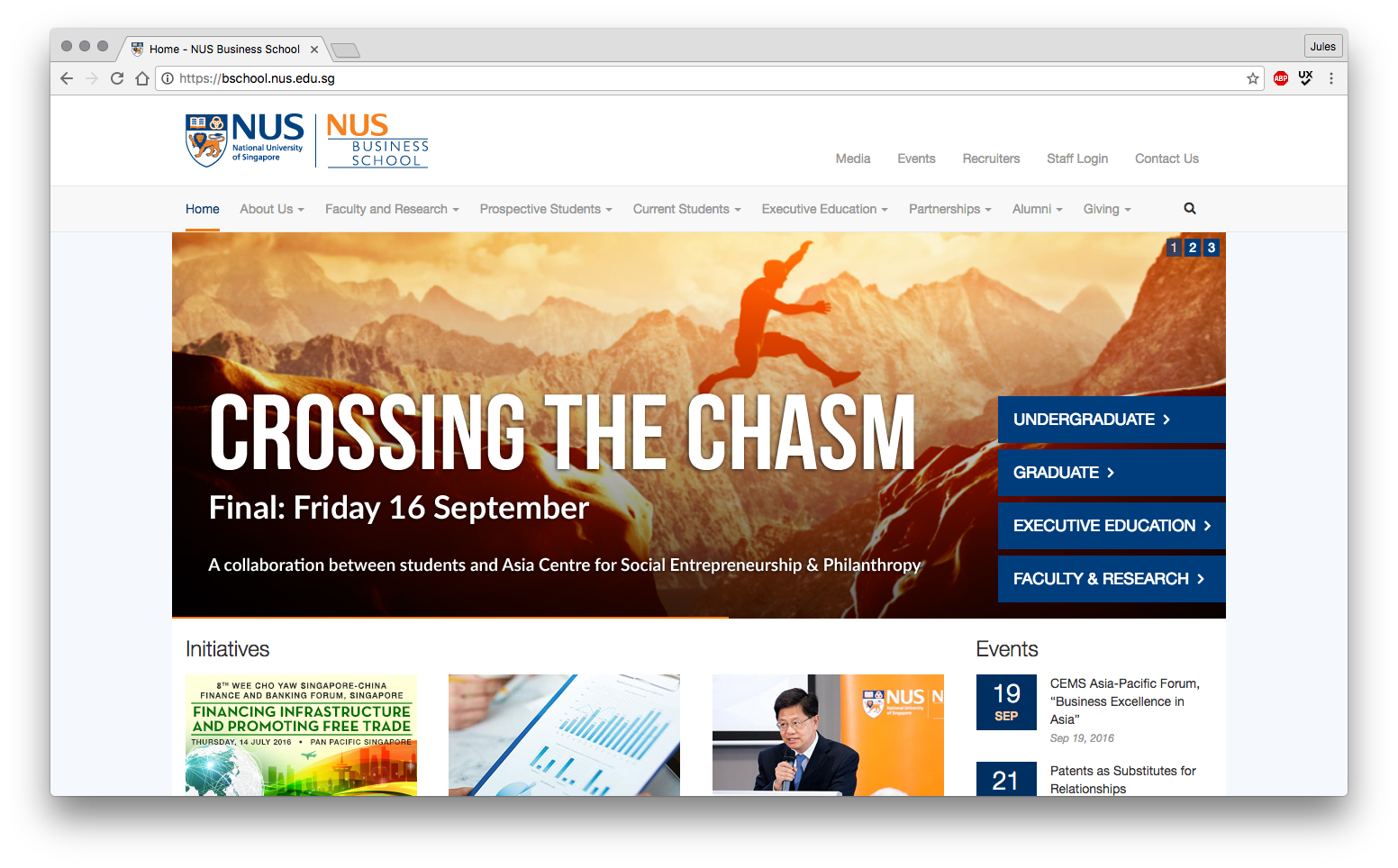Proposed Ux Re Design Of The Nus Business School Website By Jules Ang Medium