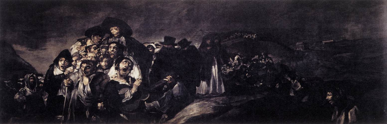 A painting of a riot, French Revolution (Francisco Goya, Black Paintings)