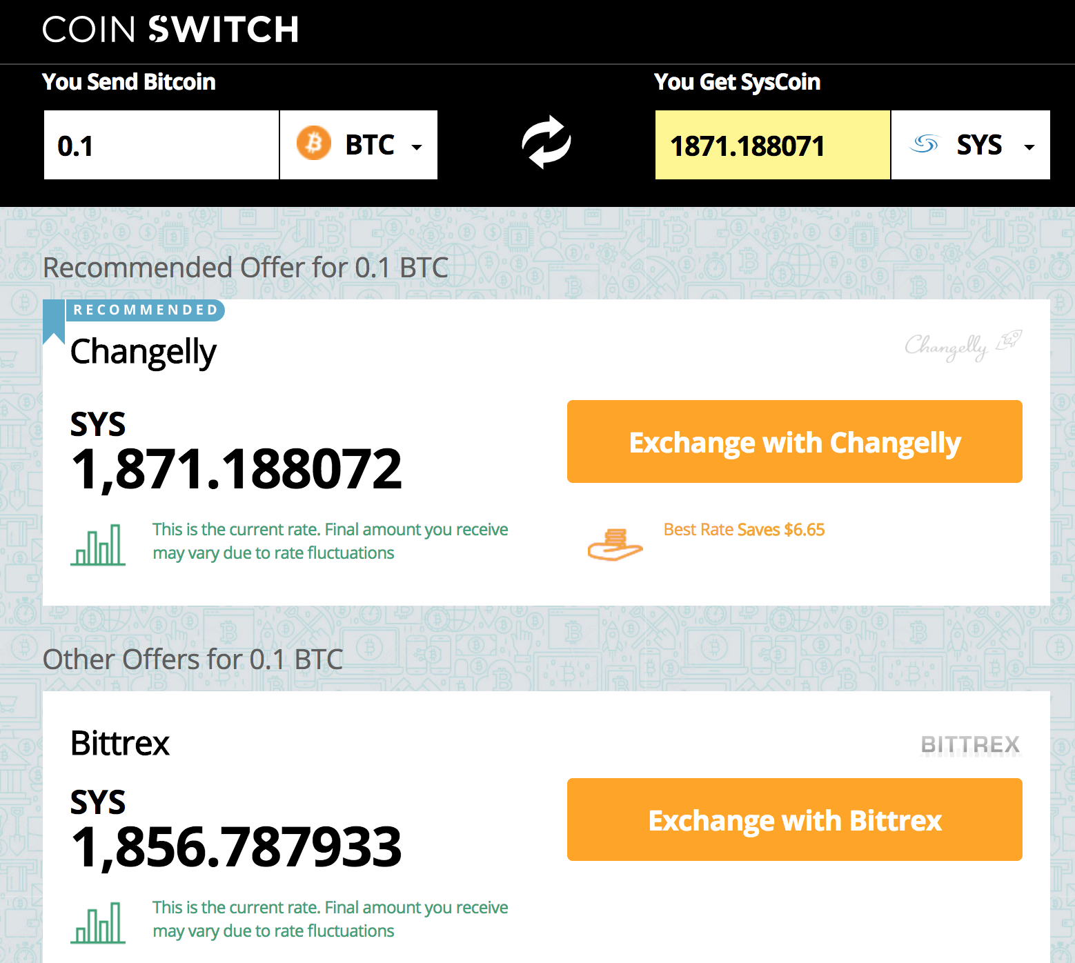 How To Syscoin Sys On Coinswitch
