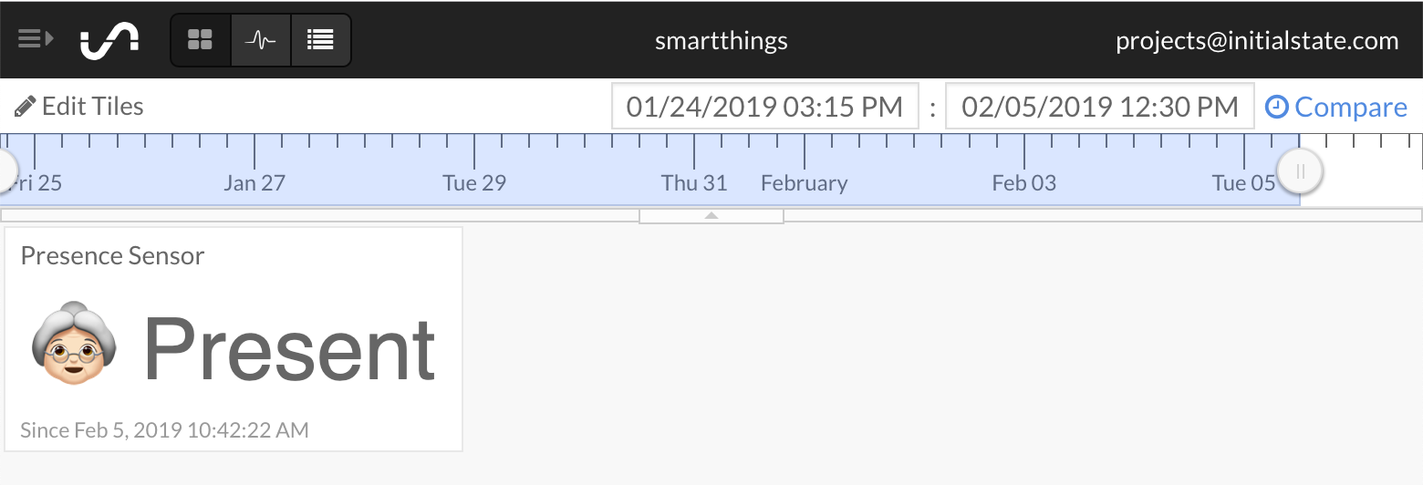 Remotely Monitor Your Aging Loved One (SmartThings + Initial