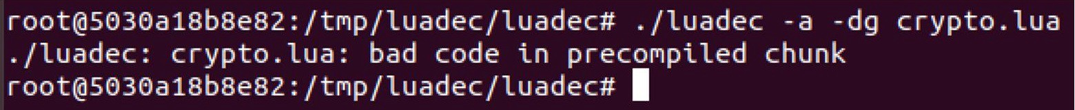 luadec bad code in precompiled chunk
