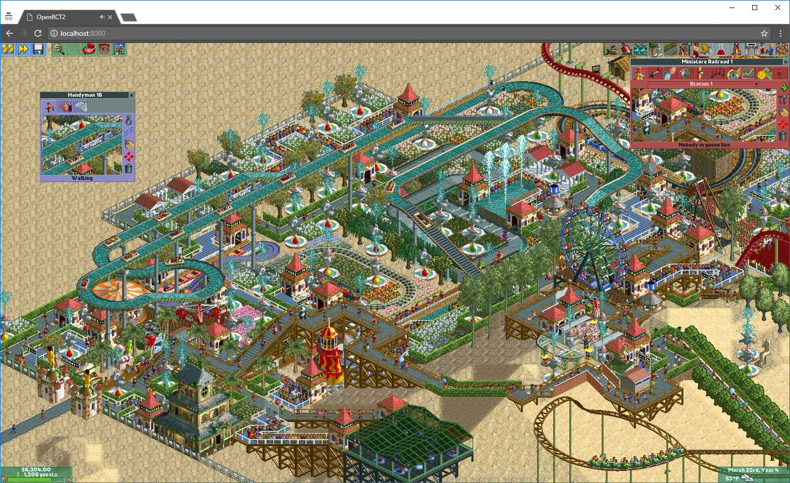 How to browserize RollerCoaster Tycoon? - Johannes Bader