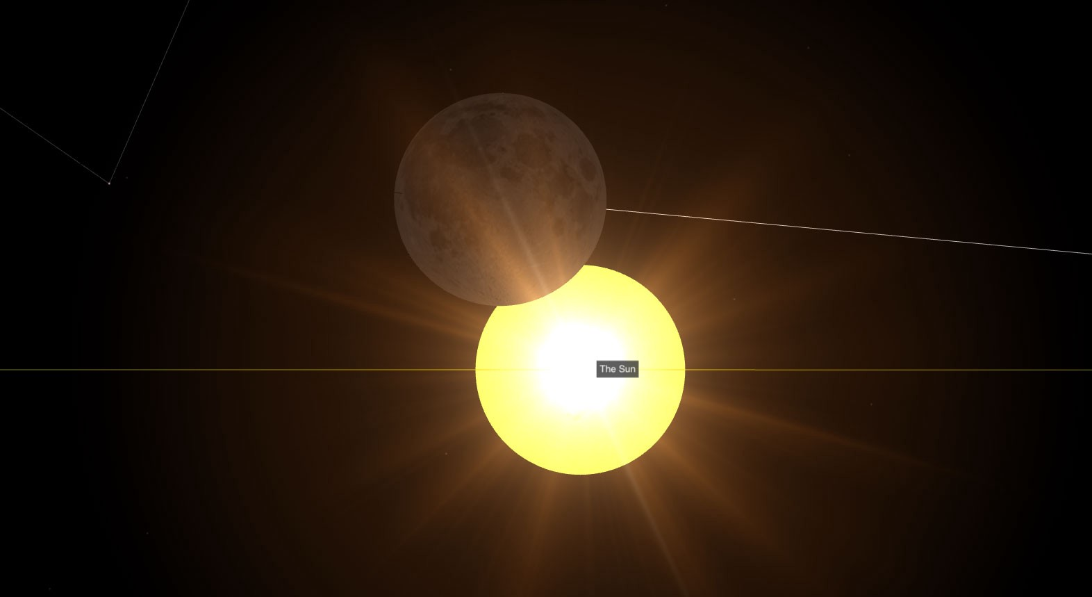 Viewing eclipses in a WebGL Solar System simulation