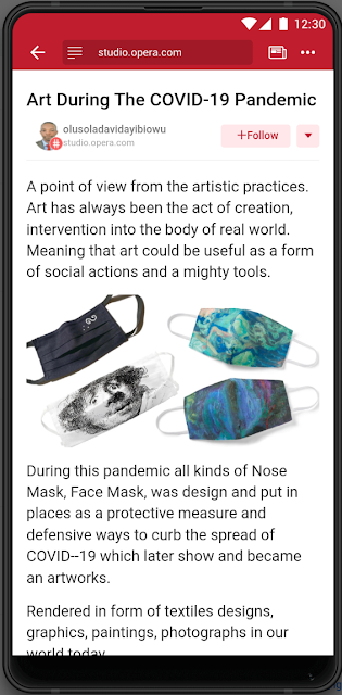 Art During The Covid 19 Pandemic A Point Of View From The Artistic By Olusola David Ayibiowu Aug 2020 Medium