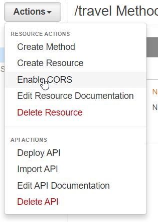 Using JQuery to access an AWS API Gateway (CORS) - Andrea