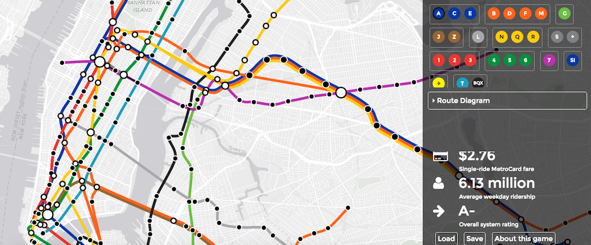 How To Read A New York City Subway Map.New Interactive Subway Game Lets You Build The Transit System Of