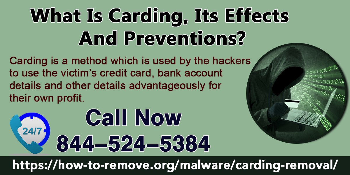 What is Carding , its effects and Preventions ? - Carol R