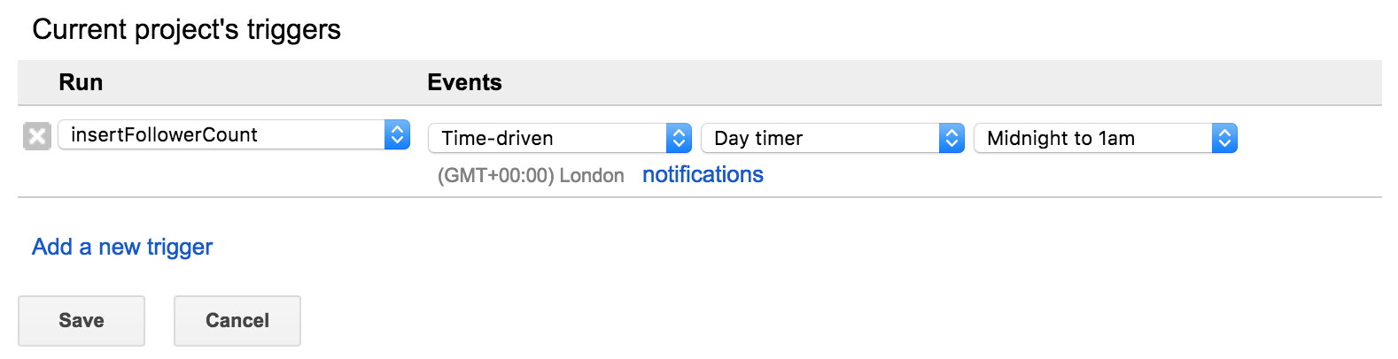 How to track your Instagram followers over time with Google