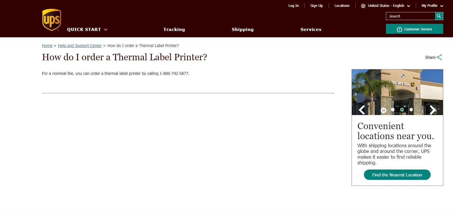 Want to Know How to Get a Free UPS Thermal Printer?