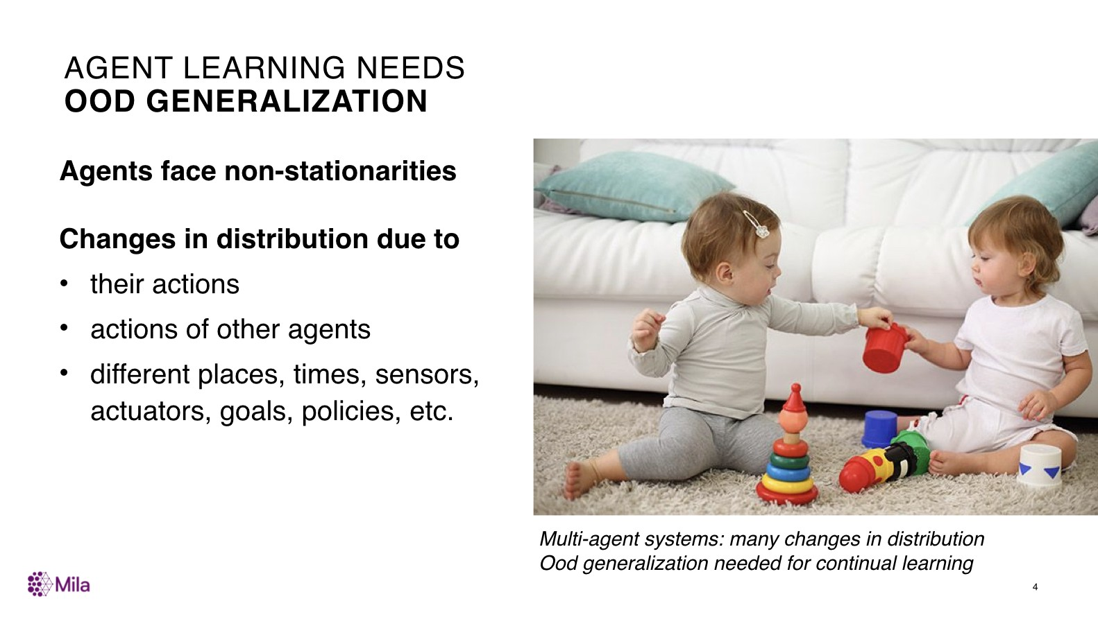 Agent Learning Needs OOD Generalization