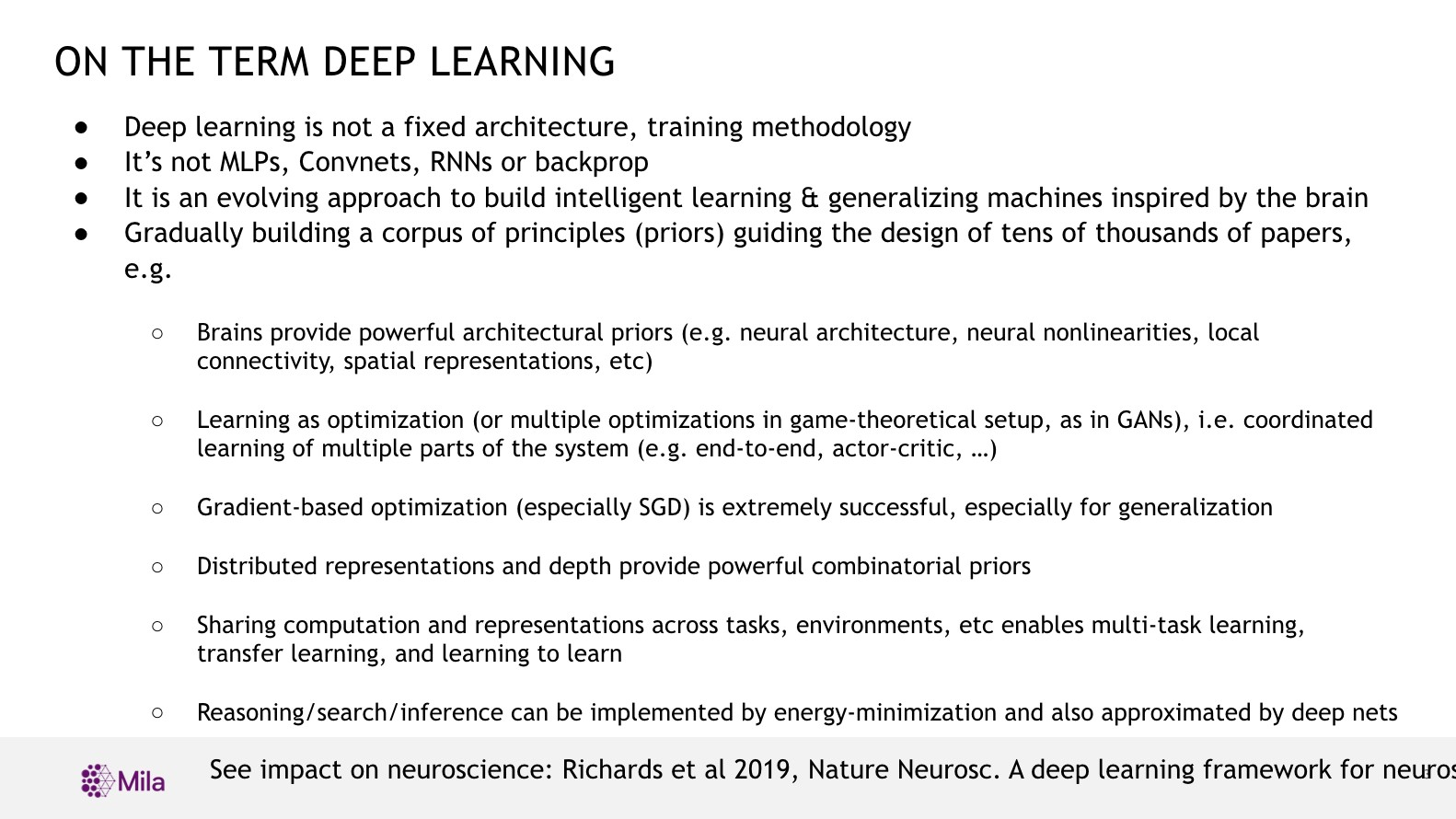 On the term deep learning