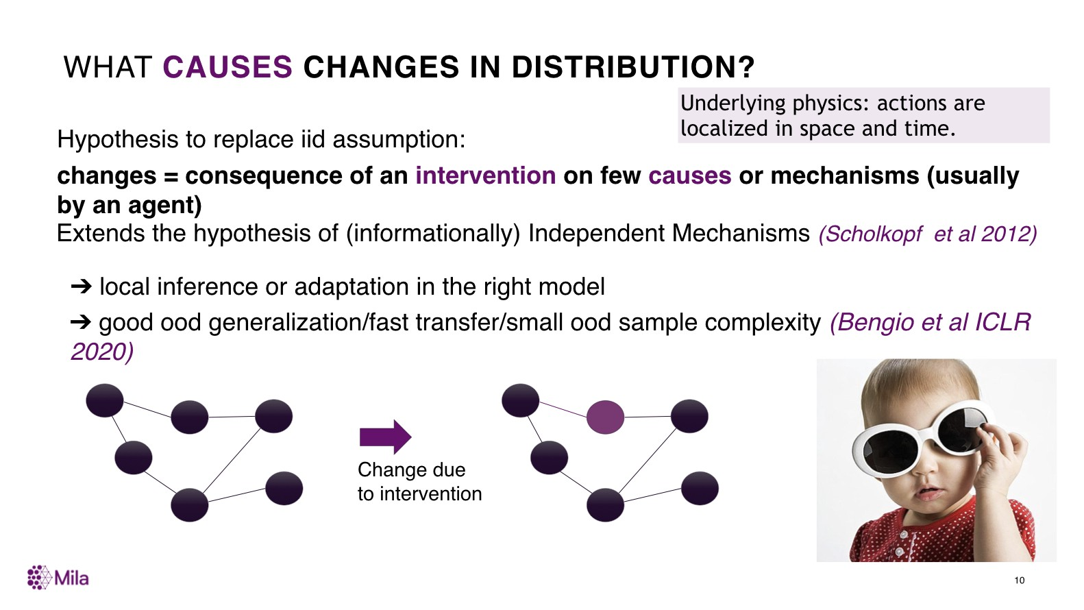 What causes changes in distribution?