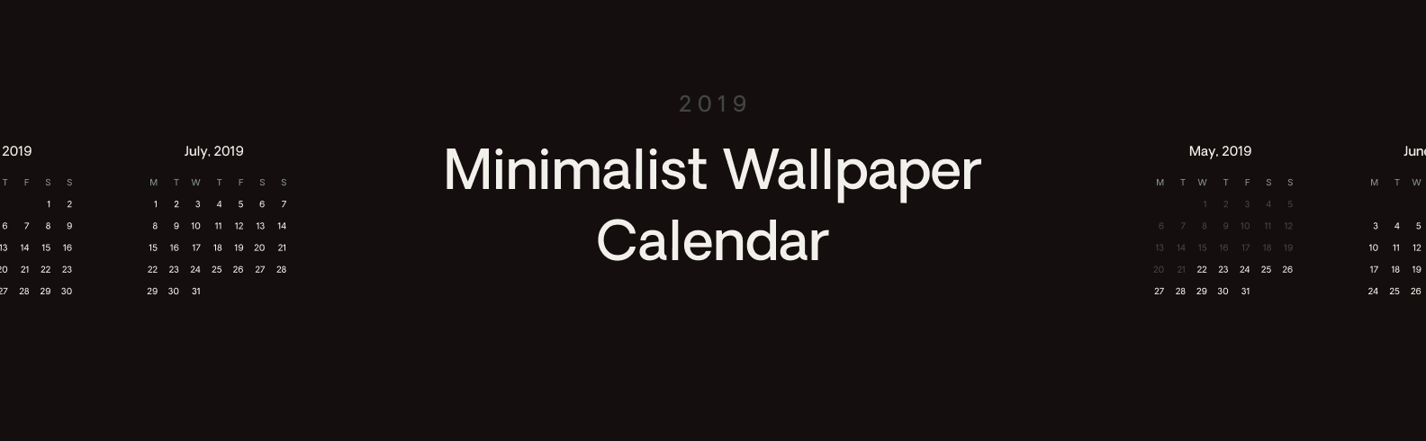 Minimalist Wallpaper Calendar Eryc Da Silva Medium