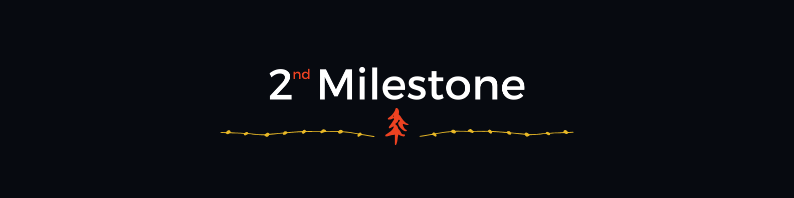 What you don't see is CX-Trail's art for this specific article: a verydark blue plaque sporting a letterhead with ordinal numeral '2' (second) followed by the word Milestone, both hanging above the hand-drawn glyph of an orange-colored tree in the middle of two yellow-colored lines, each line embedded with stoneshape-resembling ink blurs; each line a graphism hoping to impress the sentiment of a trail, of being on a journey.