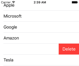 Enable slide to delete in UITableView  - iOS App Development