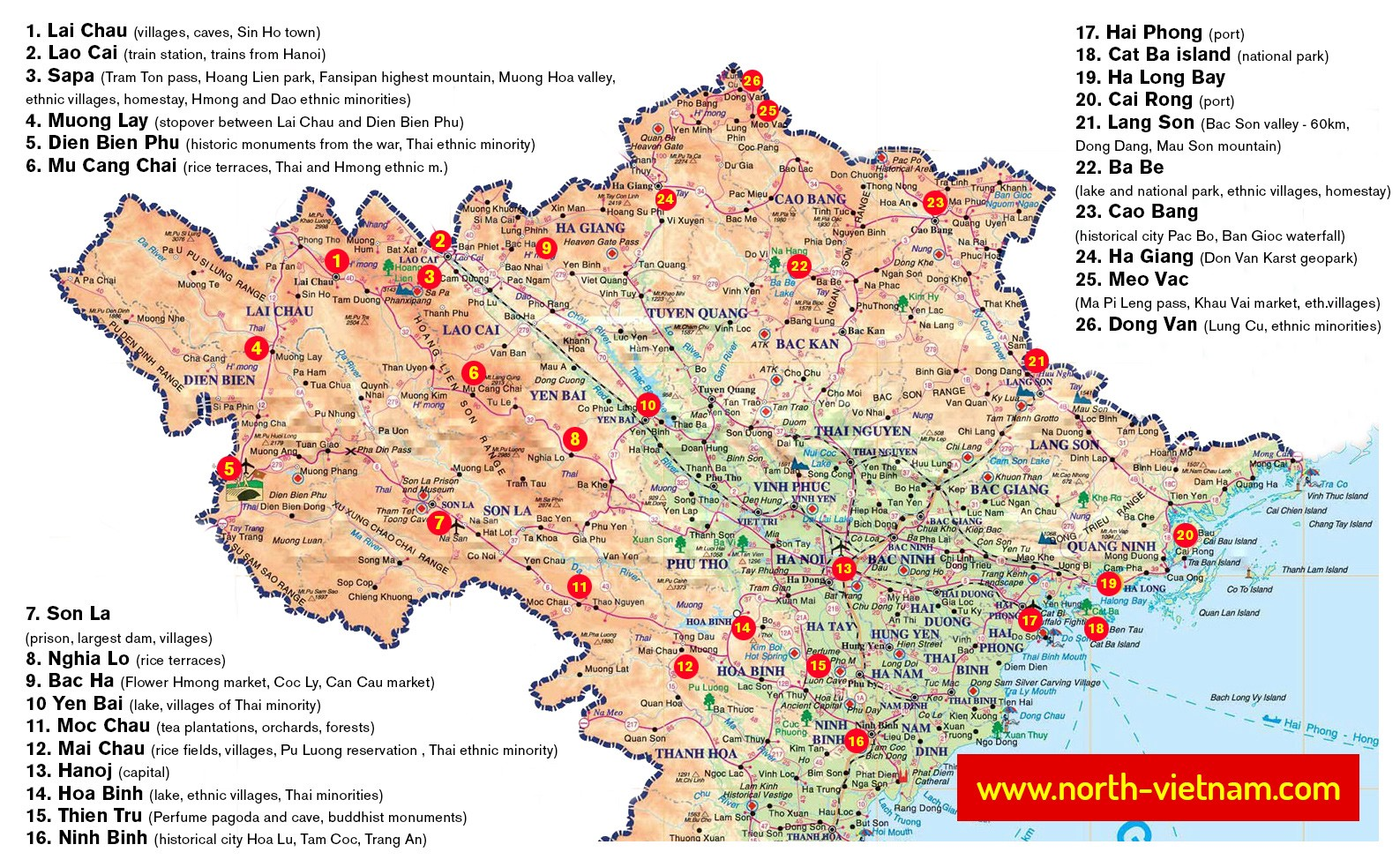 Travel Maps of Vietnam — North, South, Railway, Airports ...