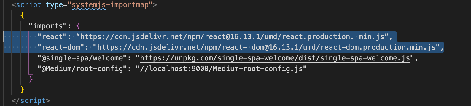 For the React app only you need to add the following imports add this in your root's index.ejs