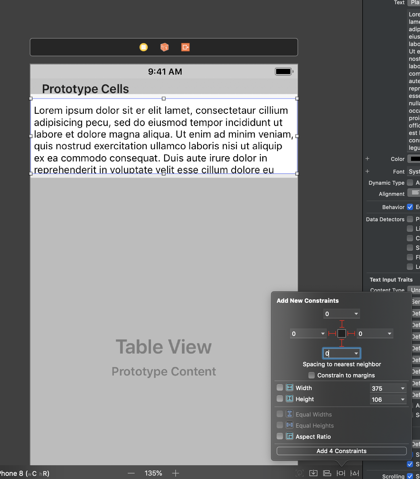 Embedding UITextView inside UITableViewCell - George
