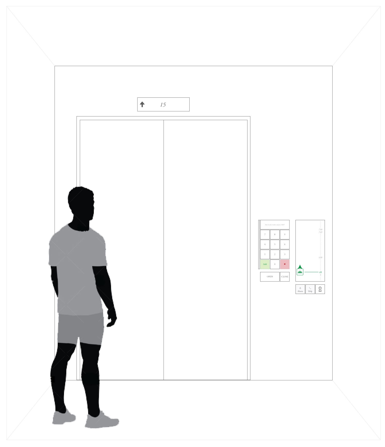 How would you design an interface for a 1000 floor elevator?