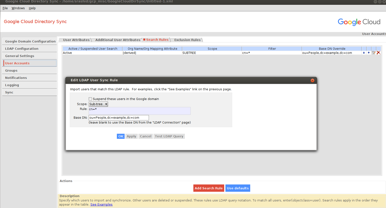 Setting up Google Directory Sync with OpenLDAP - Google