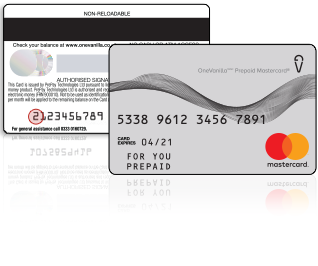 A Feature-Loaded OneVanilla Prepaid Mastercard And Process Of