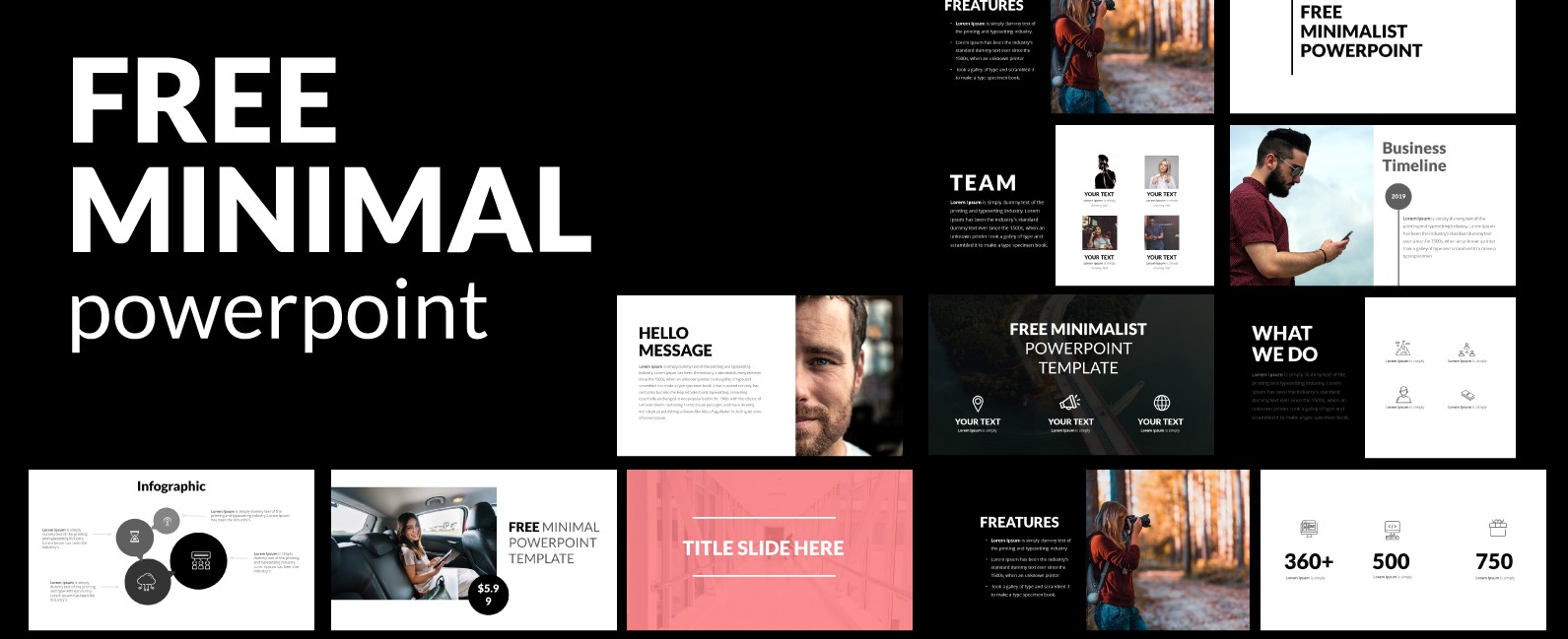Minimalist Powerpoint Template Free Thecreativenext Medium