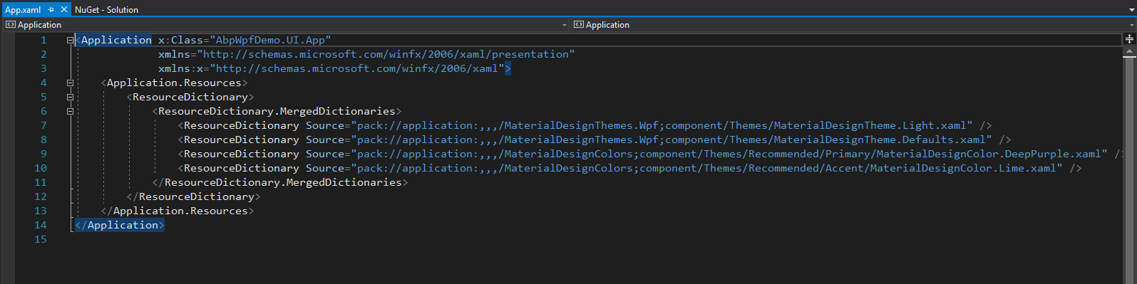 Introduction to Material library with WPF and AspBoilerplate