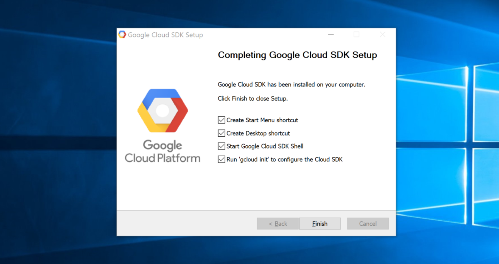The Windows guide to setting up a Google Cloud instance for