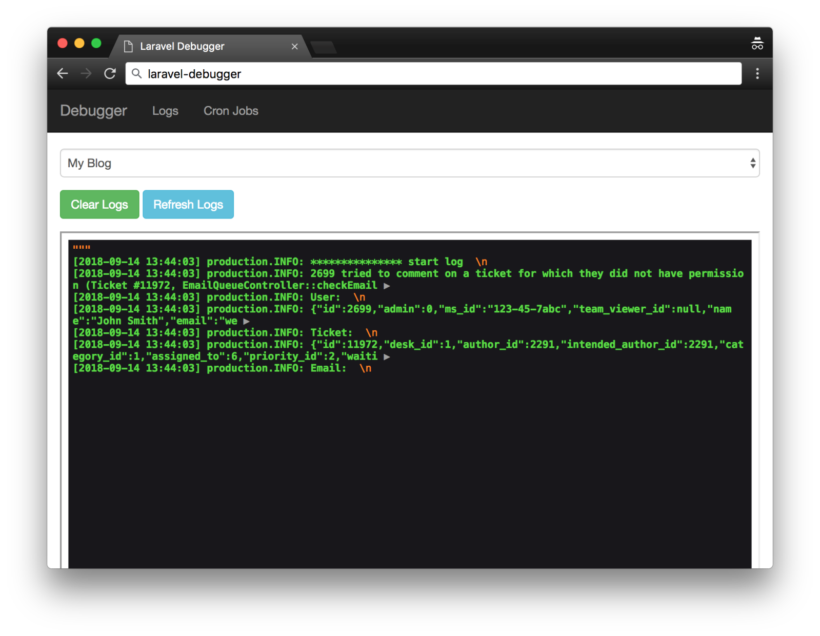 Laravel Log File Viewer - Ian Conway - Medium