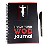 Track Your WOD Journal - The Ultimate Cross Training Tracking Journal. 3rd ed. 6x9 Hardcover w/ pen included. Track 210 WODs, 9 benchmarks + 25 Girls + 25 Hero WODs, and all your Personal Records.