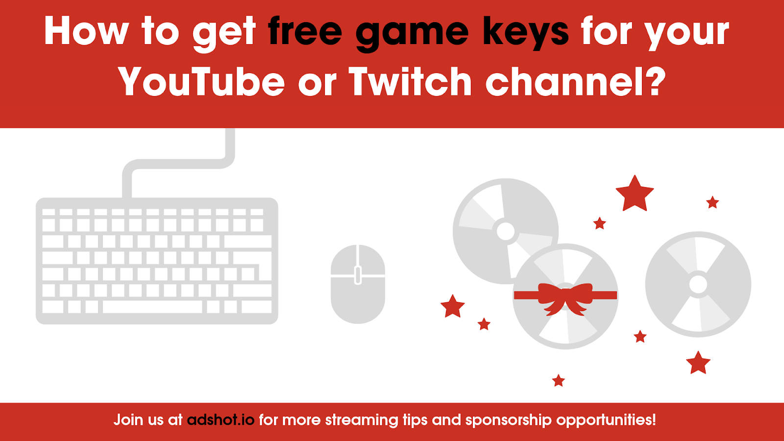 How to get free game keys for your YouTube or Twitch channel
