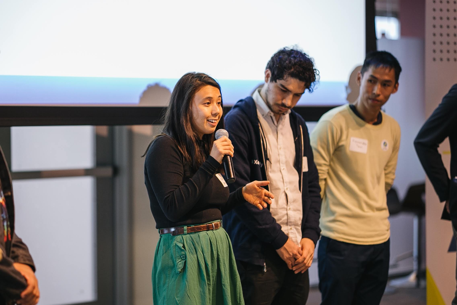 Katrie Lowie, co-founder of Berlin-based Domi, speaking at the SSI Incubator launch event last Tuesday.
