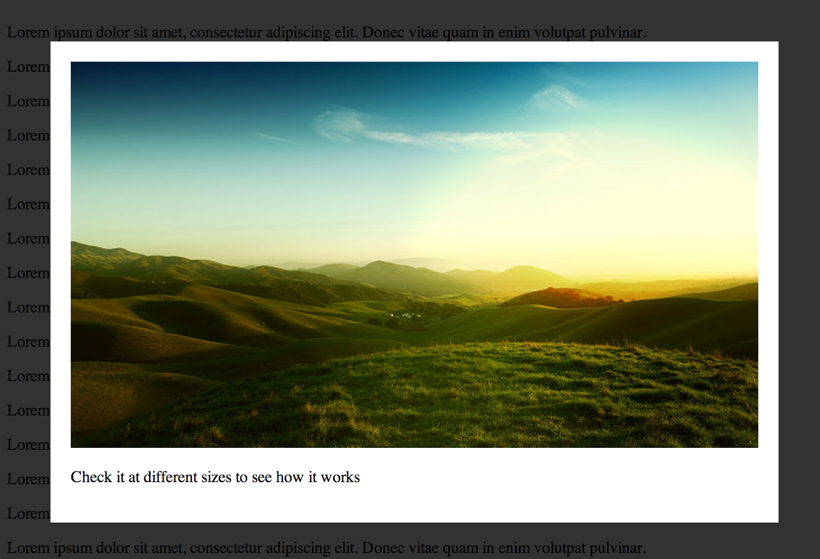 Responsive Cross Browser Lightbox Using Only Html And Css