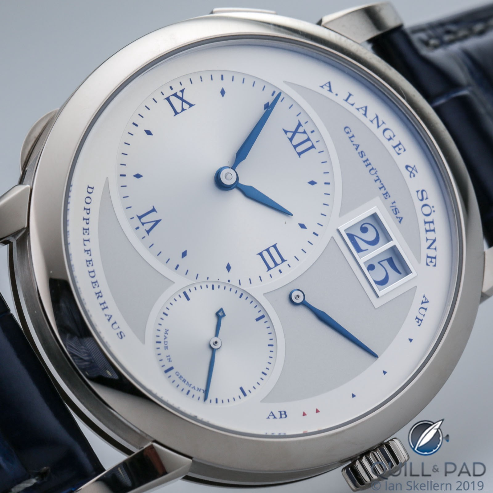 Dial of the A. Lange & Söhne Lange 1 25th Anniversary Edition