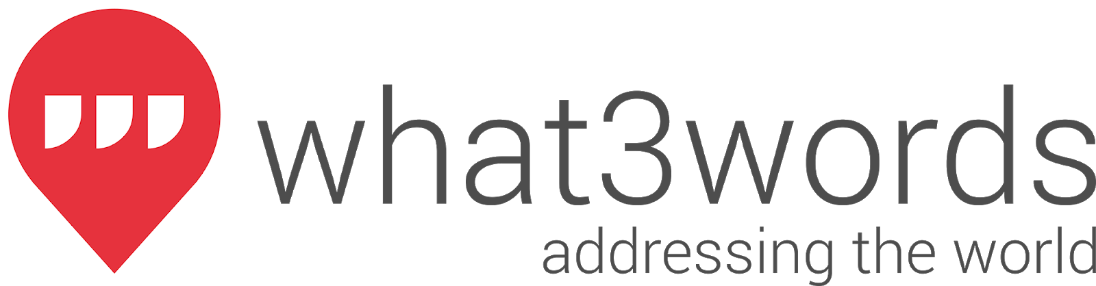 The original what3words logo (a red pin containing 3 white apostrophes