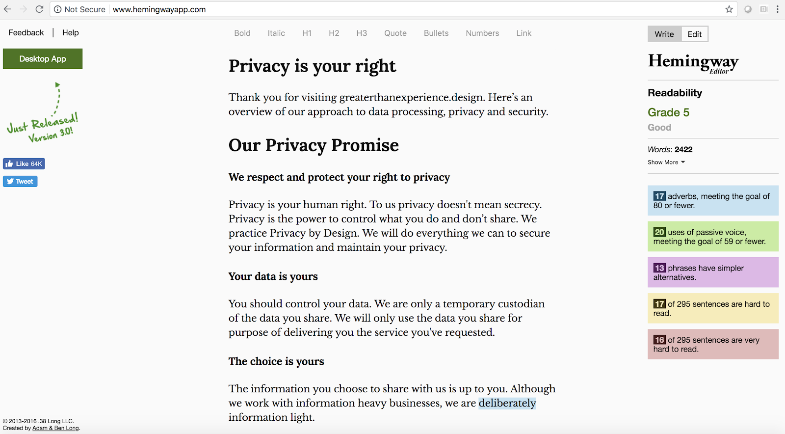 A privacy policy for all - Greater Than Experience Design