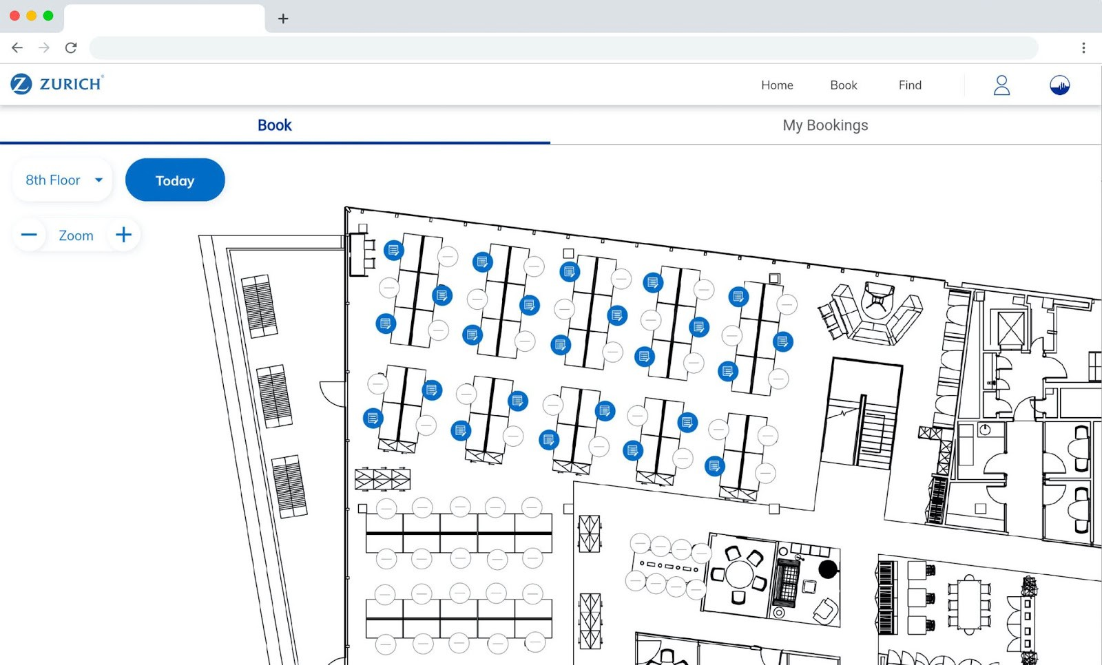 Property management solution for Zurich Insurance, built by Spica Technologies, is a great example of the business apps Flutter's web support can enable on desktop browsers.