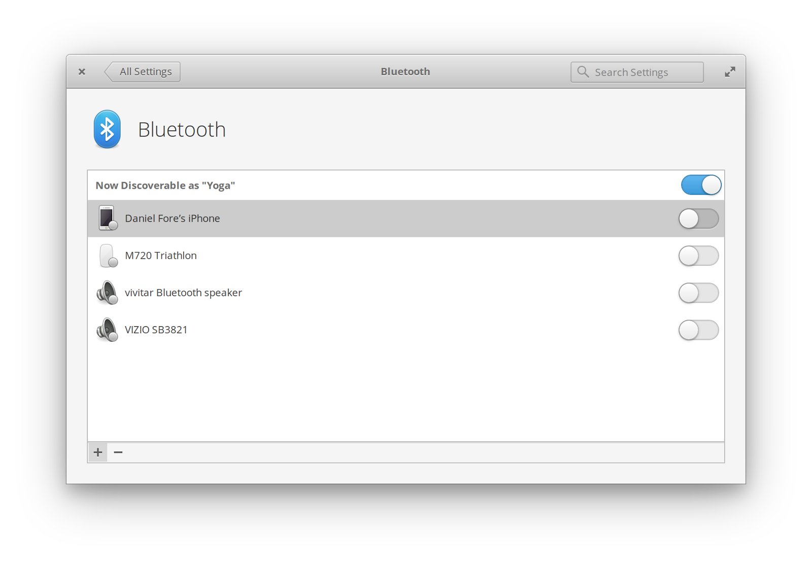 Redesigning Bluetooth Settings - elementary - Medium