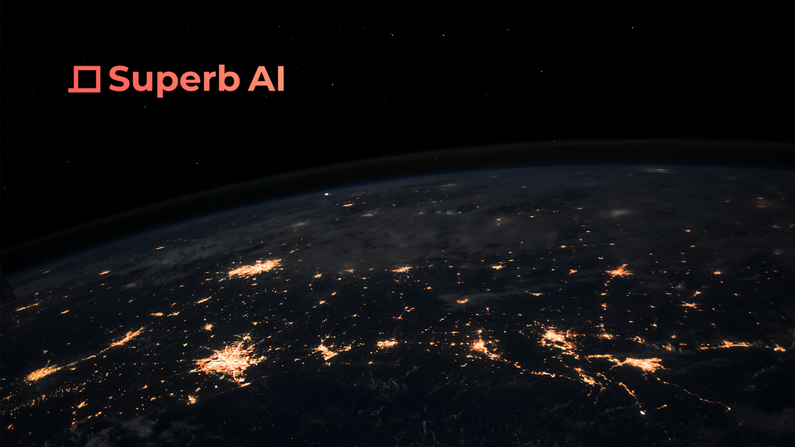 An image showing Superb AI's logo and the space behind it, Superb AI offers state-of-the-Art data Labeling with a true AI-powered data management platform.