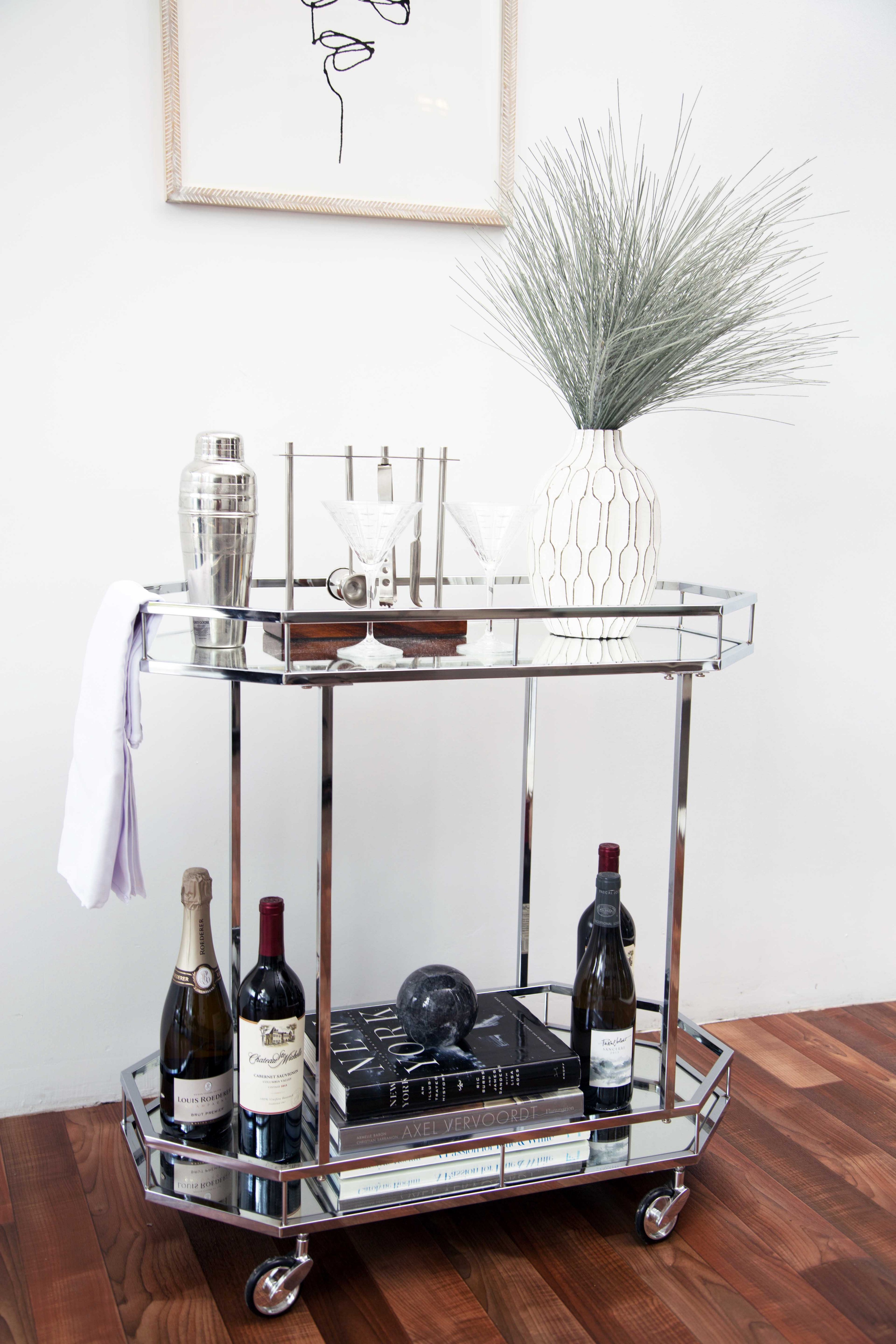 3 Ways To Style A Chic Bar Cart Share This Article By Brandon Kleinman Get Your Design On Medium