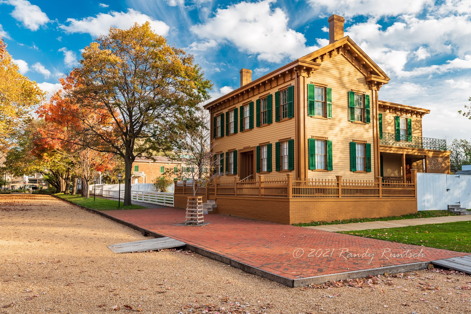 Abraham Lincoln home in Springfield, Illinois. Photo by the author.