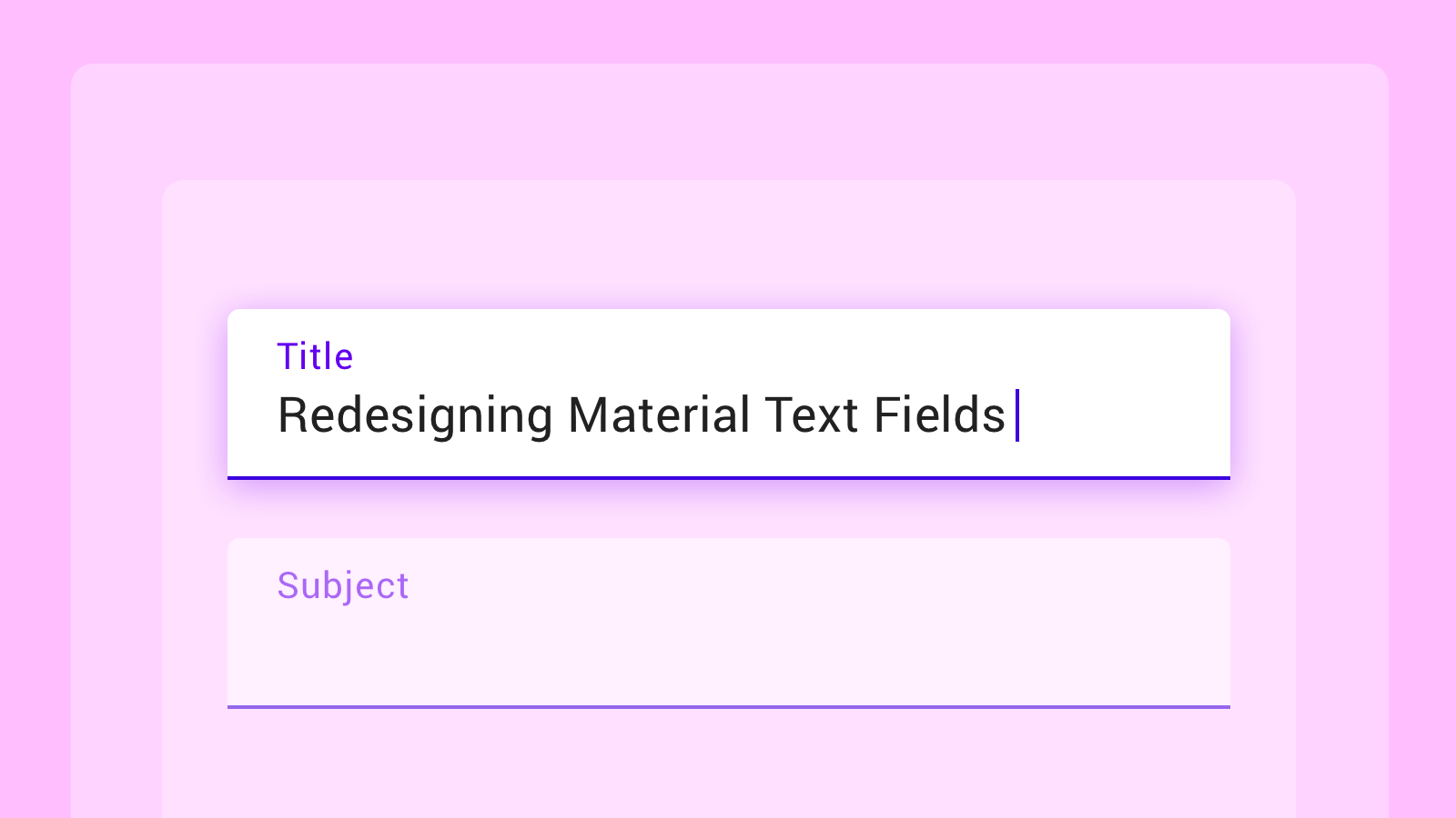 New Material Text Field